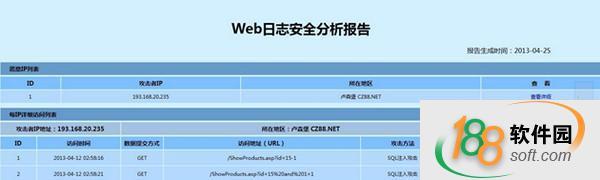 Web日志安全分析报告