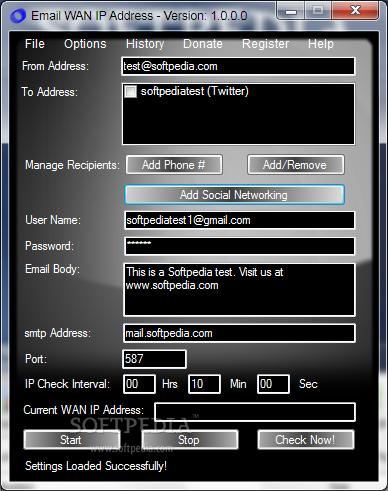 Email WAN IP Address